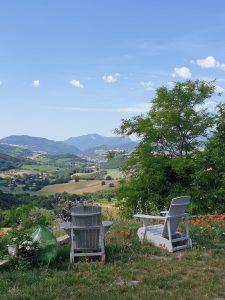 Heerlijk relaxed genieten van het prachtige uitzicht